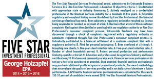 George Holzapfel - 5 Star Professional