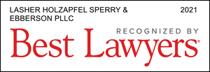 "Lasher Holzapfel Sperry & Ebberson PLLC Ranked in  2021 ""Best Law Firms"""